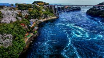 Bridges embankment natural scenery nature sea wallpaper