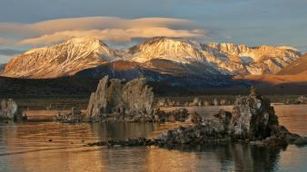 California mono lake saline clouds geology wallpaper
