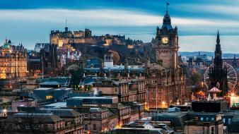 Castles cityscapes edinburgh wallpaper