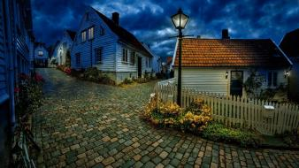 Cityscapes norwegian norway town street wallpaper