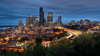 Cityscapes seattle usa washington wallpaper