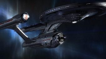 Classic enterprise star trek outer space spaceships wallpaper