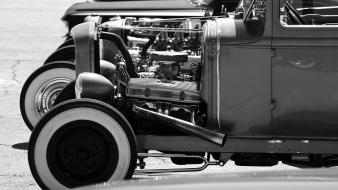 Classic hot rod rat black cars wallpaper