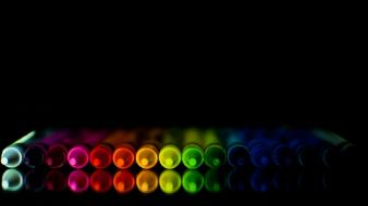 Colorful crayons background Wallpaper
