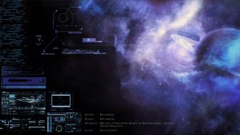 Concept art control panel exploration mysterious nebulae wallpaper