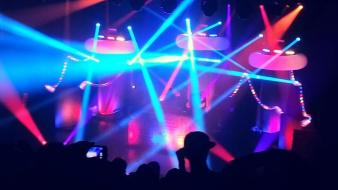 Concert stage pretty light blue lightshow gramatik wallpaper