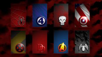 Daredevil the punisher marvel avengers symbols superhero Wallpaper