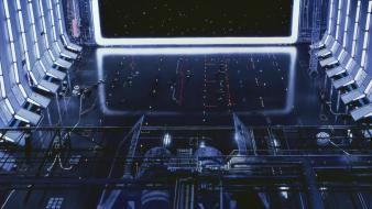 Death science fiction artwork hangar tie bomber wallpaper