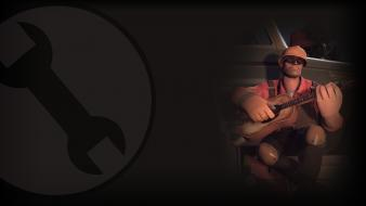 Engineer tf2 team fortress 2 red engie Wallpaper