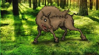 Forests animals drawings boar wallpaper