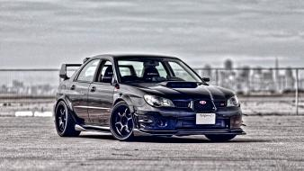 Hdr photography subaru impreza wrx cars wallpaper