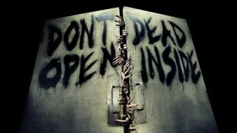 Horror zombies dead the walking door wallpaper