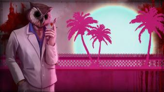 Hotline miami owls wallpaper