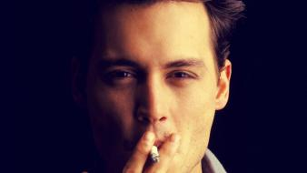 Johnny depp actors cigarettes wallpaper
