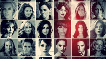 Julia roberts demi moore collage penélope cruz Wallpaper