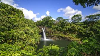 Landscapes nature hawaii waterfalls wallpaper