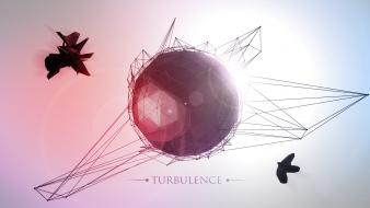 Lens flare turbulences cinema 4d atome wallpaper