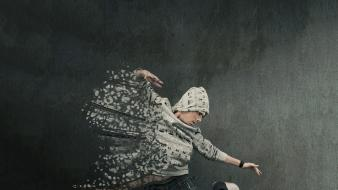 Men dancing breakdancing crushed guy photo manipulation jump wallpaper