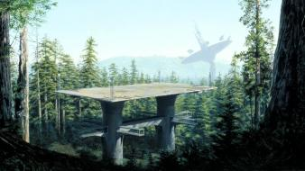 Movies futuristic forests science fiction artwork endor wallpaper