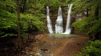 Nature forests usa waterfalls arkansas triple falls wallpaper