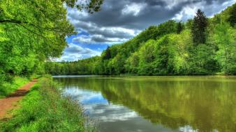 Nature germany rivers hessen wallpaper
