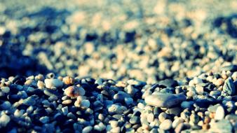 Nature rocks stones seaside pebbles sea shorelines beach Wallpaper