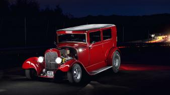 Red cars hot rod ford wallpaper
