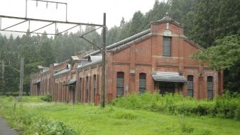 Ruins architecture buildings railway substation Wallpaper
