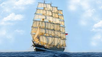 Sailing ships wallpaper
