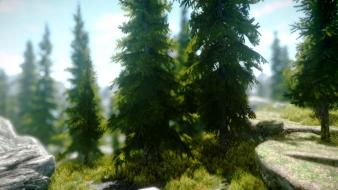 Scrolls v: skyrim nature trees video games Wallpaper