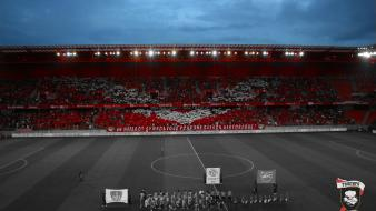 Soccer stadium supporters tifo players Wallpaper