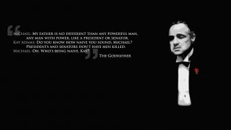 Text quotes the godfather marlon brando Wallpaper
