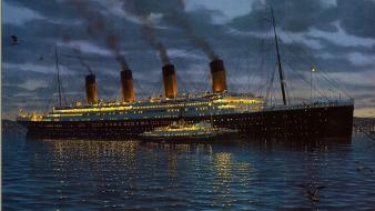 Titanic ships vehicles wallpaper