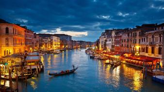 Venice italy lighting evening wallpaper