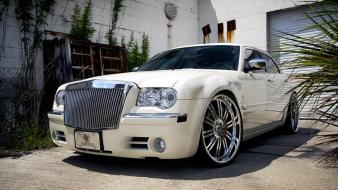 White cars chrysler 300c wallpaper