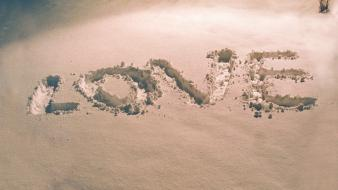 Winter snow love typography michael plaster wallpaper