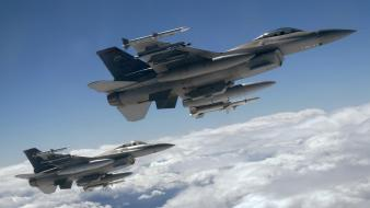 Aircraft army f-16 fighting falcon wallpaper