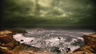 Antofagasta chile hdr photography brown cliffs wallpaper
