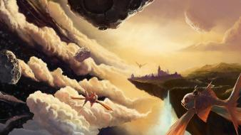 Artistic clouds digital art fantasy wallpaper