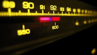 Artistic waves radio dial fm frequency wallpaper
