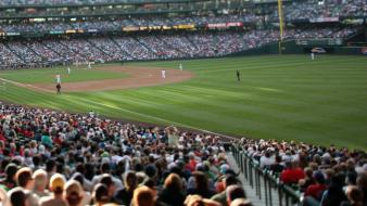 Baseball sports stadium wallpaper