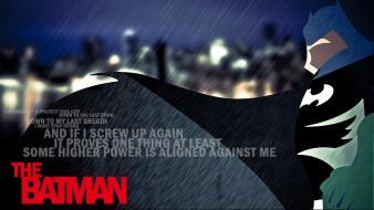 Batman rain superheroes typography wallpaper