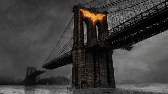 Batman the dark knight rises bridges movies Wallpaper