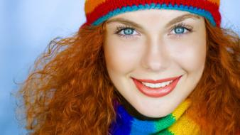 Beanies blue eyes colors faces long hair wallpaper