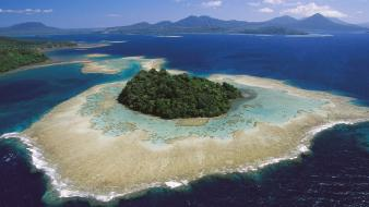 Britain papua new guinea archipelago beaches coral reef Wallpaper