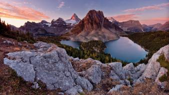 British columbia canada mount assiniboine clouds lakes wallpaper