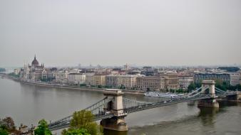 Budapest hungary bridges cityscapes rivers wallpaper