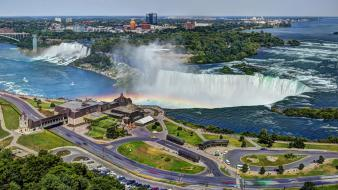 Canada niagara falls bridges buildings cityscapes wallpaper