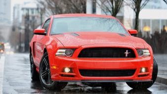 Cars ford mustang 2014 front view wallpaper