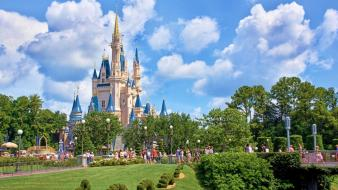 Castles buildings disneyland parks wallpaper